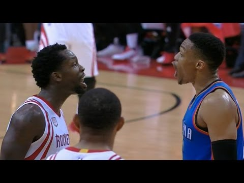 Beverley steals pass from Westbrook, heated trash talk ensues