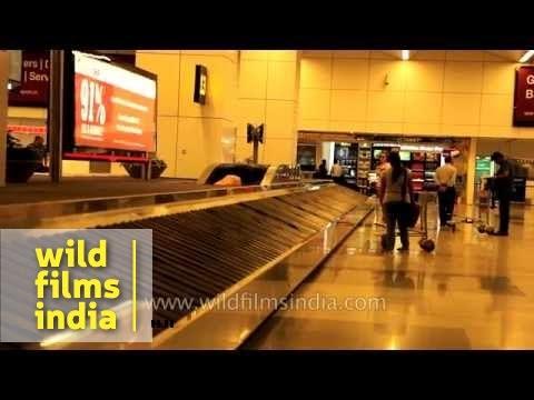 Baggage claim conveyor belt at arrivals, T3 IGI Airport, Delhi