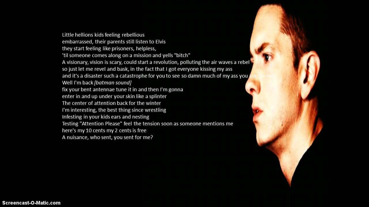 Eminem- Without Me Lyrics