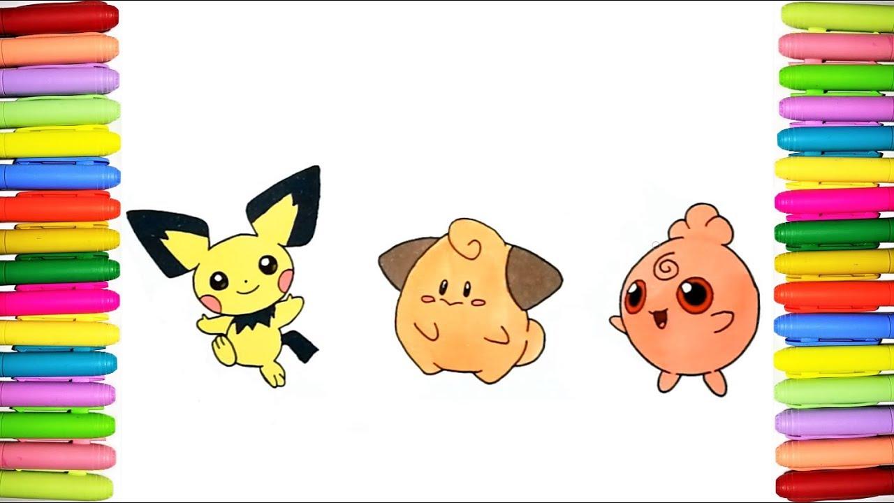 Pokemon advanced coloring pages | Pichu pokemon, Pichu, Colorear ... | 720x1280