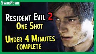 Resident Evil 2 One Shot Demo - COMPLETED In Under 4 Minutes - (Resident Evil 2 Remake Demo Guide)