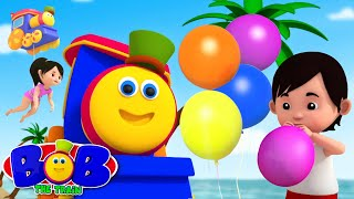 Balloon Song | Balloon Race | Bob The Train Nursery Rhymes & Songs for Babies | Kids Tv