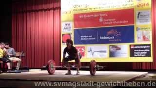 Sina Lauble KSV Lörrach Gewichtheben Oberliga 2014 02 22