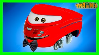 My Red Tractor's Farm Day ( +1 hour My Magic Pet Trains  kids videos compilation)