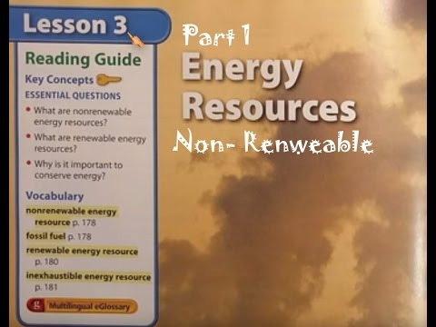 G7 Physics-Energy Resources (non-renewable)