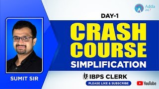IBPS Clerk | Crash Course |  Simplification | Day-1 | By Sumit Sir | 12:00 PM