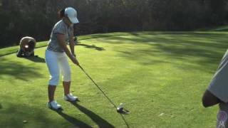 Se Ri Pak at the KYCC Youth Golf Clinic (Strawberry Farms Golf Club)