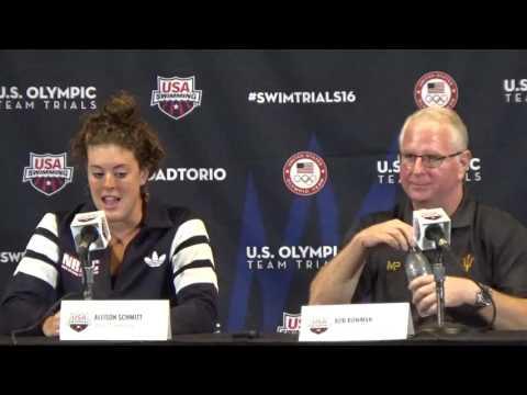 Allison Schmitt and Bob Bowman