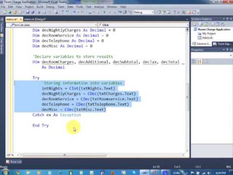 hotel billing application using visual basic youtube
