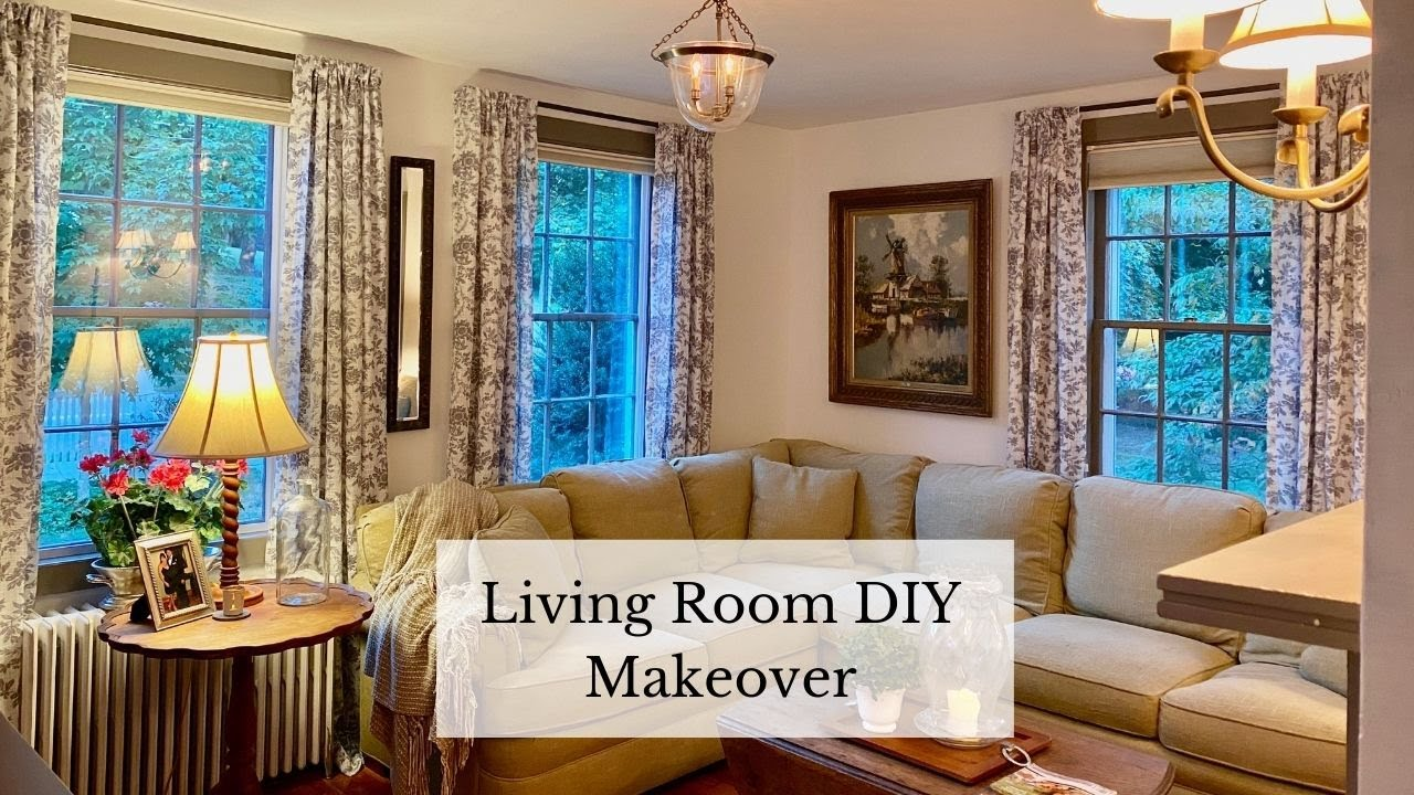 Diy Square Curtain Rods Living Room Decor Before And After New England Style Home Youtube
