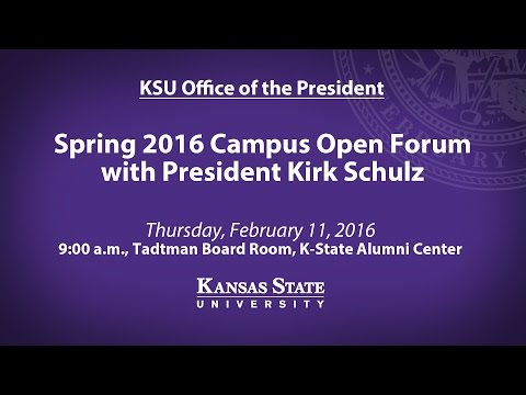 Spring 2016 President Open Forum | K-State Manhattan Campus