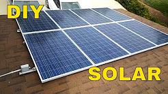 diy solar panel install check out my 7000 watt system