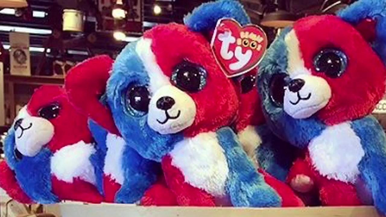 New 4th of July Beanie Boo Dog (TyNews)  fcab6e6e4b6