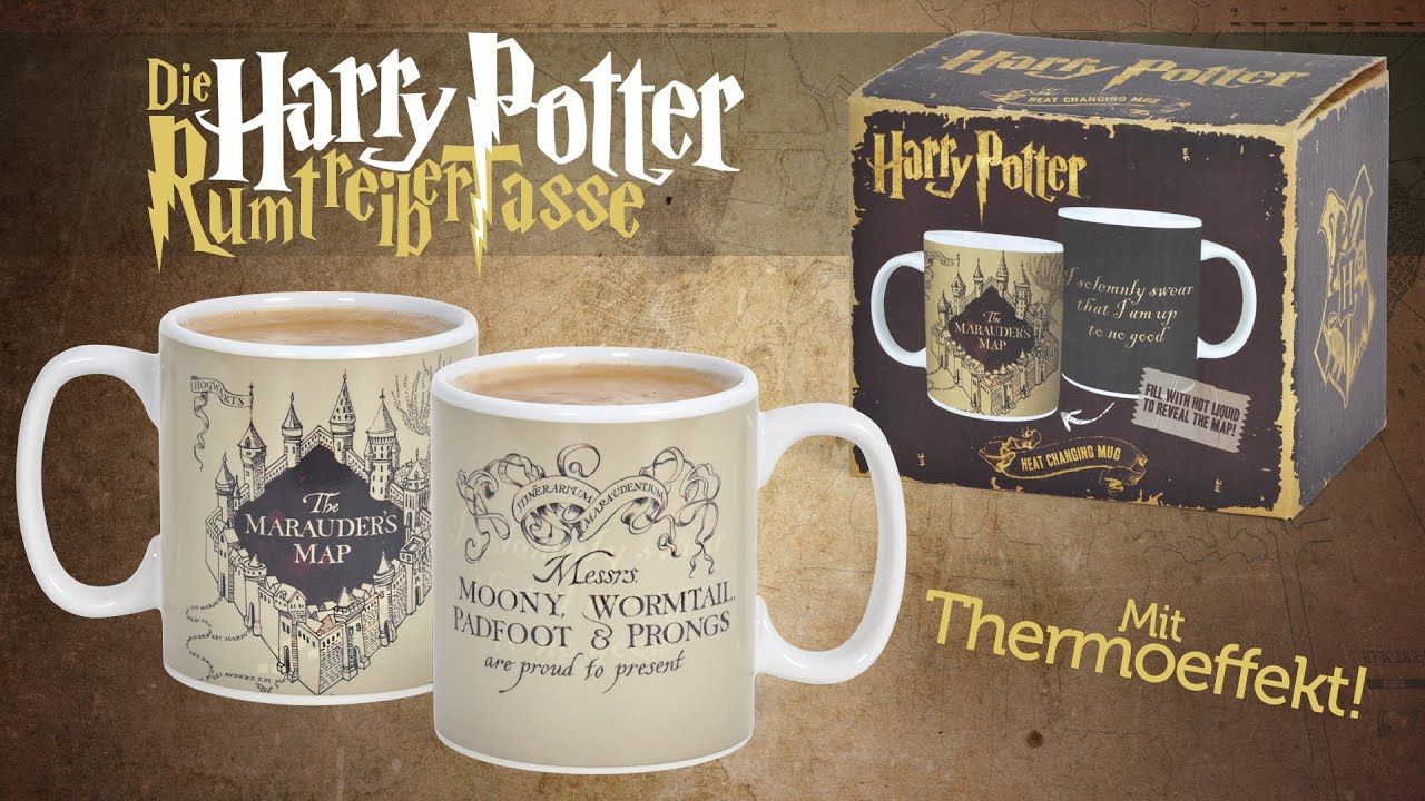 Harry Potter Karte Des Rumtreibers Spruch.Harry Potter Karte Des Rumtreibers Thermoeffekt Tasse