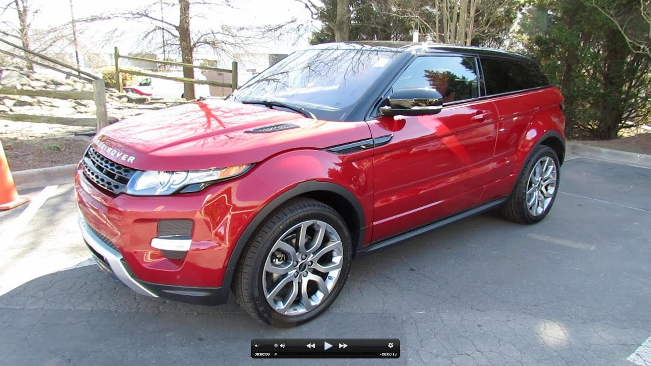 2012 range rover evoque coupe pure plus dynamic start up exhaust and in depth tour youtube. Black Bedroom Furniture Sets. Home Design Ideas