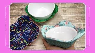 Bowl Cozy Set Reversible Bowl CozyBowl Potholder