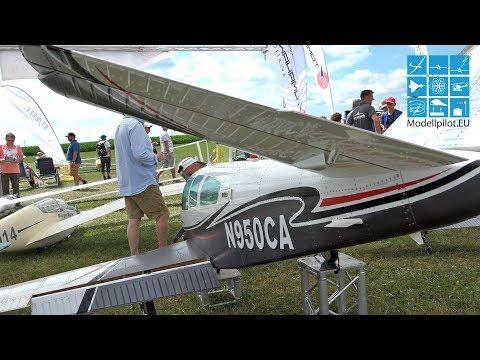 BEECHCRAFT BONANZA V3 1:2,88 RC V-TAIL PLANE AIRSHOW FLIGHTS TOMAHAWK AVIATION
