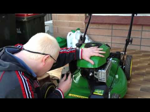 weed eater push mower fuel filter john deere js26 push mower servicing howto youtube