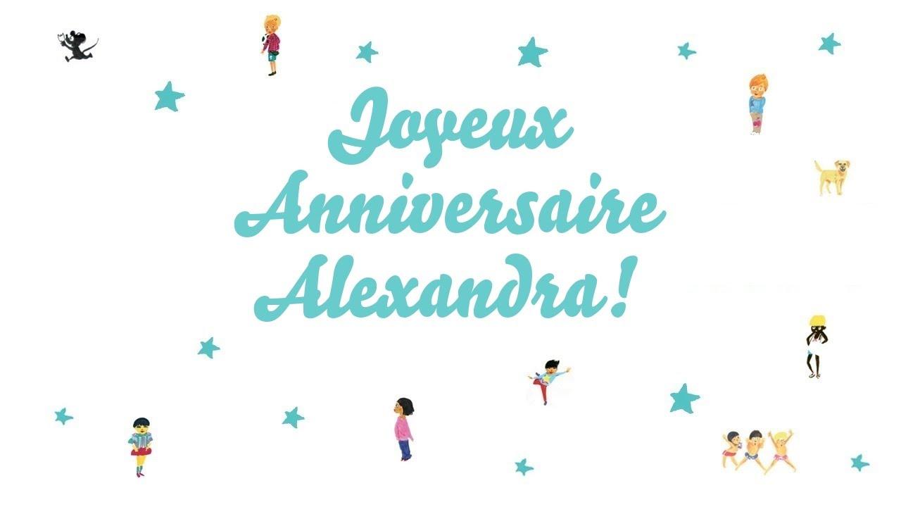 bon anniversaire alexandra