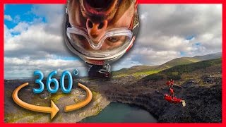RIDING WORLDS FASTEST ZIP LINE IN 360 ????