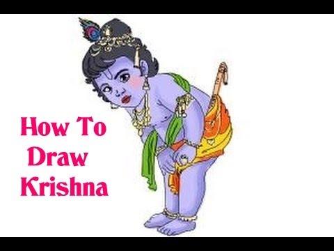 How To Draw Lord Radha Krishna Krishna Janmashtami Youtube