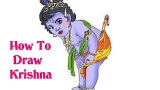 How To Draw Lord Radha Krishna|  Krishna Janmashtami |