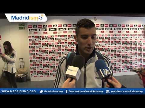 Borja Garcia en Zona Mixta, Real Madrid Castilla 4 - 0 Córdoba