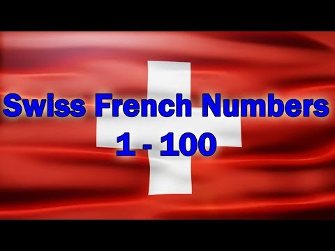 Swiss French numbers 1-100