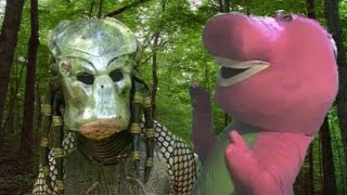 Predator Vs Barney The Dinosaur