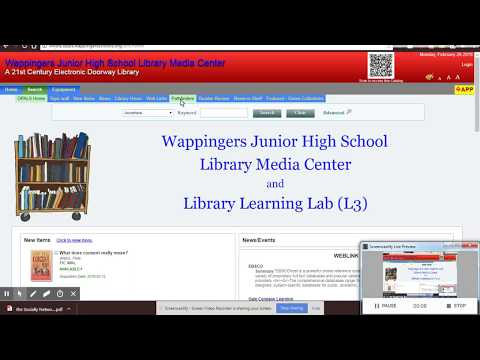 Using a Pathfinder from the OPALS at Wappingers Junior High School Library Media Center