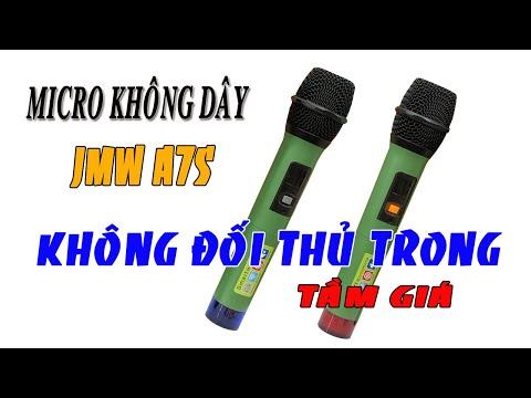 Mic Không Dây Loa Kéo JMW A7S Hát Nhẹ Giá Rẻ - Điện Máy 168
