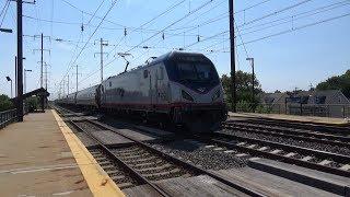 Amtrak and SEPTA Trains at Bristol 6/23/19