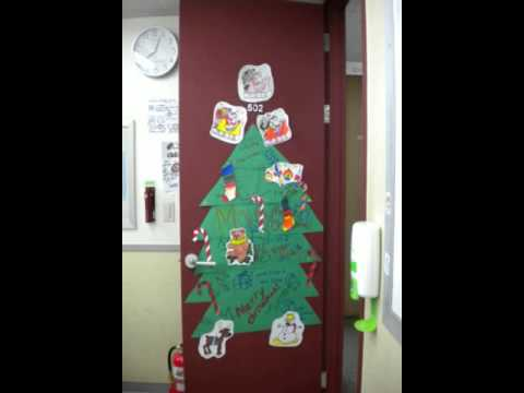 Christmas Decoration Ideas For Classroom Door Youtube