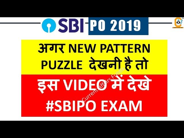 Number Based Puzzle  & Alphabetic Series Based QUES for SBI PO Exams #PUZZLEMASTER