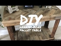 DIY RUSTIC PALLET HERRINGBONE PATTERN TABLE - BY KAREN GOVERNABLE