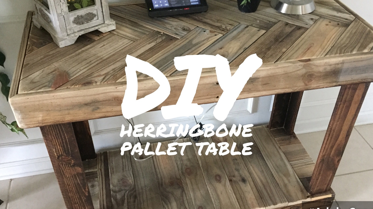 Diy Rustic Pallet Herringbone Pattern Table By Karen Governable