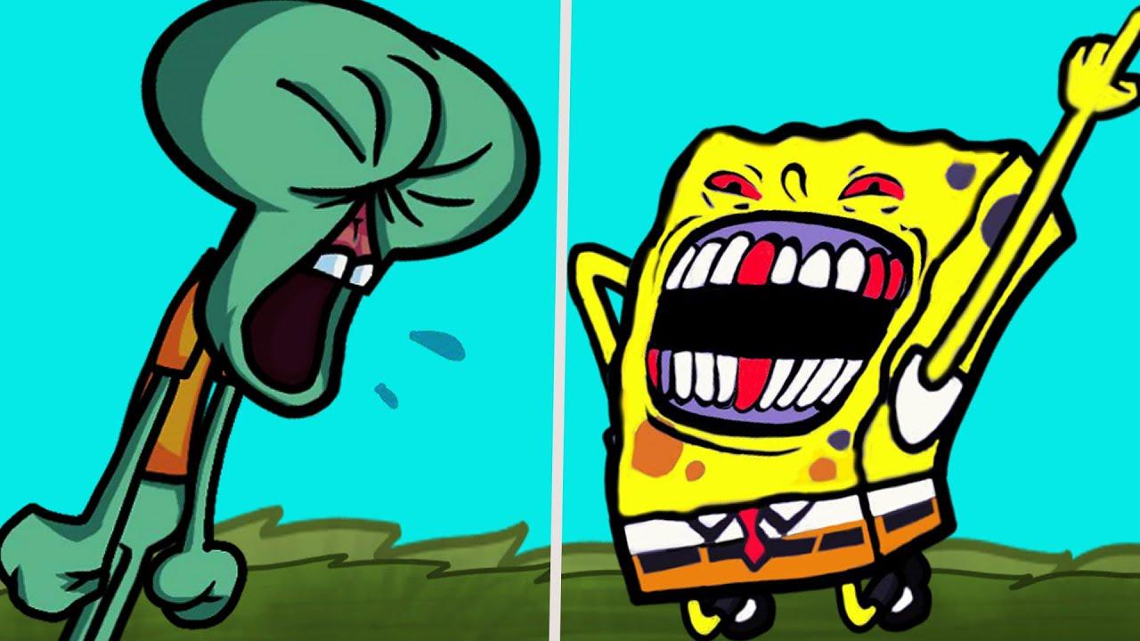 Friday Night Funkin' - VS The Squidward Tentáculos Mod - Español- Bob Esponja Madness Combat