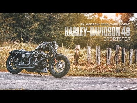 Harley Davidson 48 Sportster By Madeaw 8080 Cafe Korat By BoxzaRacing