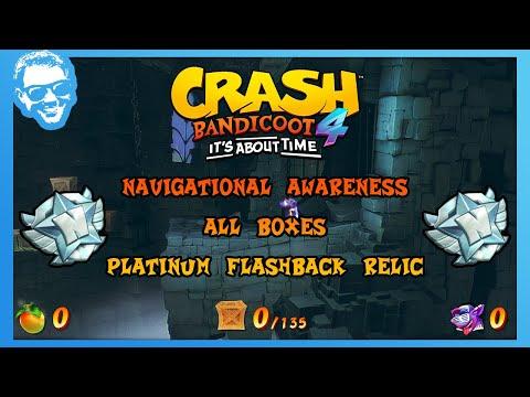 Navigational Awareness - Full Walkthrough - No Deaths - All Boxes - Crash Bandicoot 4 [4k]