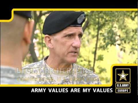 U.S. Army Europe Commander Talks Army Values