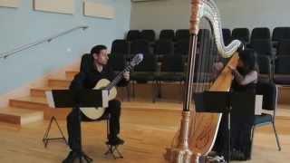 """Vincenzo Palermo - """"Indigo Textures""""; Elisa Torres, arpa - Ramsué López chitarra"""