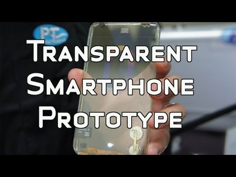 Transparent Smartphone Prototype by Polytron Hands On Video