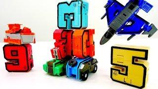 Игры с Трансформерами –Трансботы: машинки и самолёты из цифр!