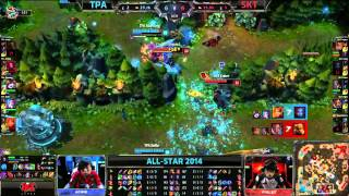 TPA (Bebe Ezreal) VS SKT-T1 (Faker Twisted Fate) Highlights - Allstars Paris 2014