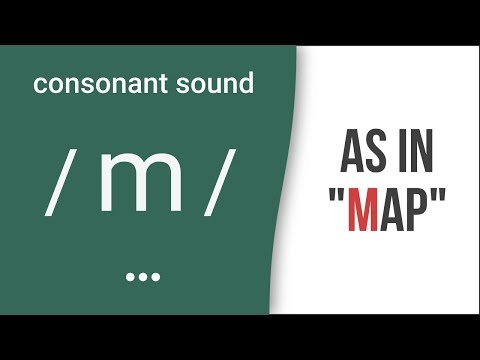 "Consonant Sound / m / as in ""map""- American English Pronunciation"