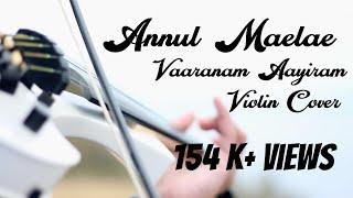 Annul Maelae | Vaaranam Aayiram | Violin Cover | Arun Linus | Suriya | Divya Spandana |Sameera Reddy