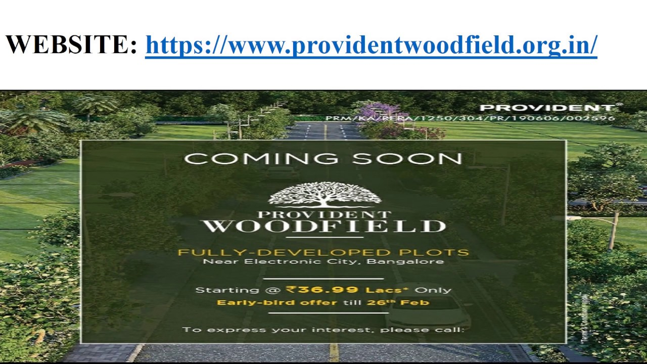 Provident Woodfield - Plots In Electronic City Bangalore For Sale