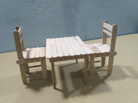 Cara Membuat Meja dan Kursi Dari Stik Es Krim - Tutorial DIY