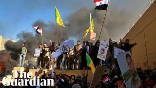 Iraqi militia supporters storm US embassy in Baghdad
