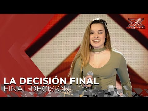 Lara | Risto Mejide & India Martínez | Final Decision | The X Factor 2018